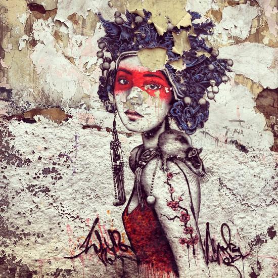 Bogotá street art (artist: FINDAC) photo