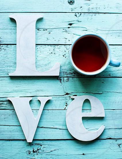 Love wood coffee tea sweet home mint  photo