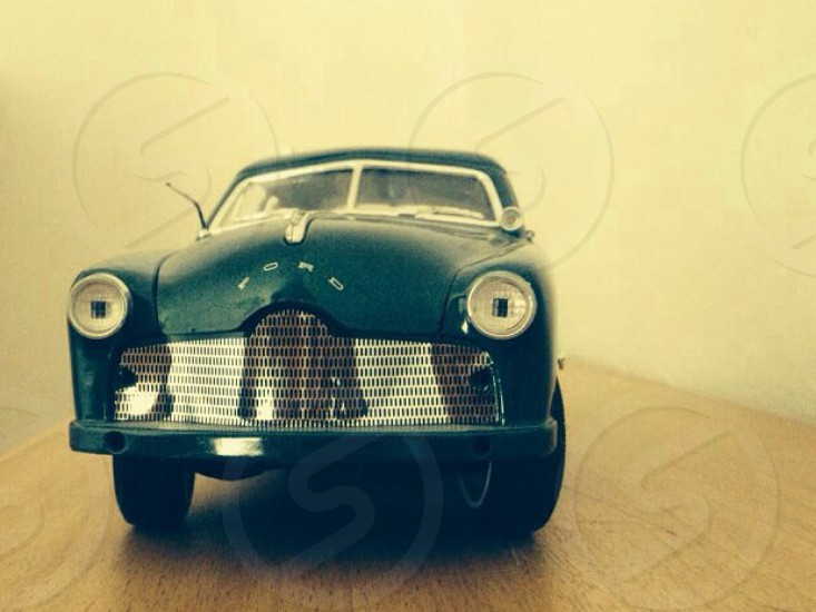 green ford classic car toy photo