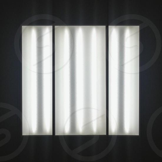 square three panel ceiling light box photo