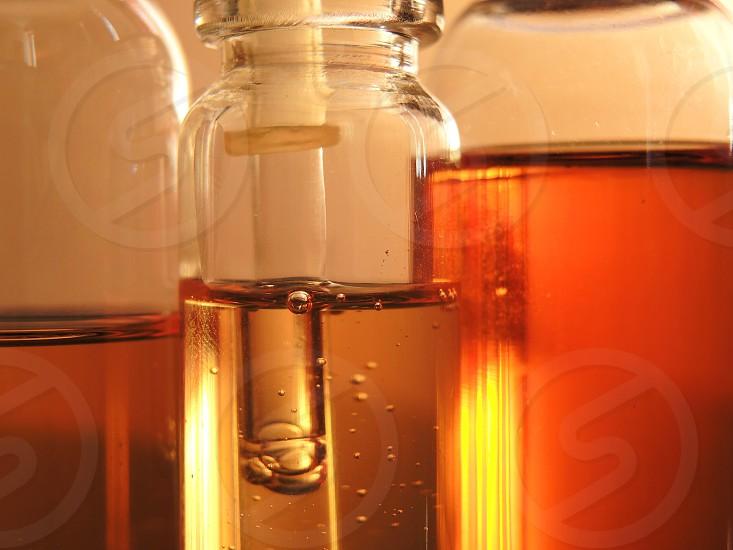 honey on clear glass jars photo
