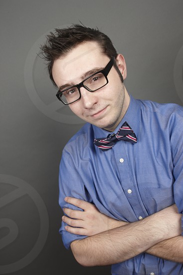 teckie with bow tie photo