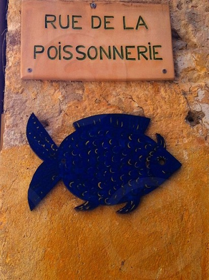 rue de la poissonnerie sign photo