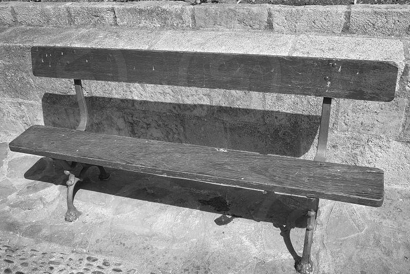 bench in the sun photo