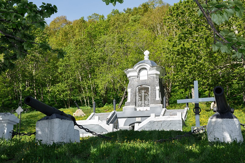 Monument Chapel built in honor of the successful defense of Petropavlovsk from attack of Anglo-French squadron in 1854. Historical monument federal level object of cultural heritage established 1912 photo