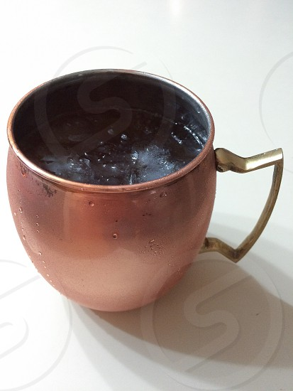 Beverage; copper mug; libations; Moscow Mule; summer drinks; refreshing; copper; condensation photo