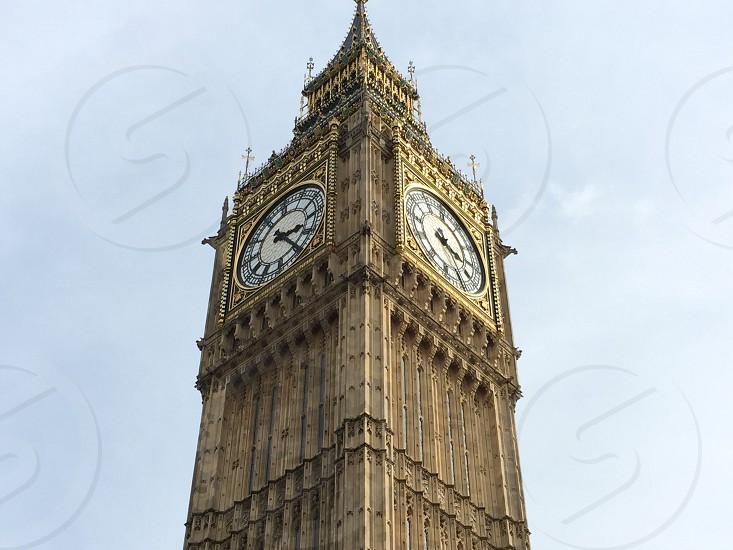 Big Ben clock grey sky's  photo