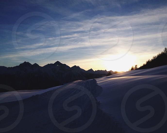 sunrise mountain view photography photo