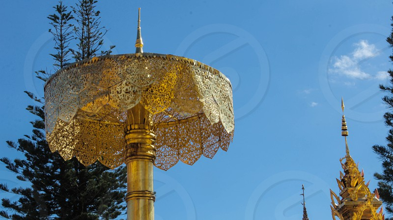 Umbrella from Chiang Mai in Wat Phra That Doi Suthep photo