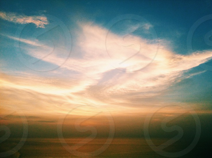 clouds at sunset photography photo
