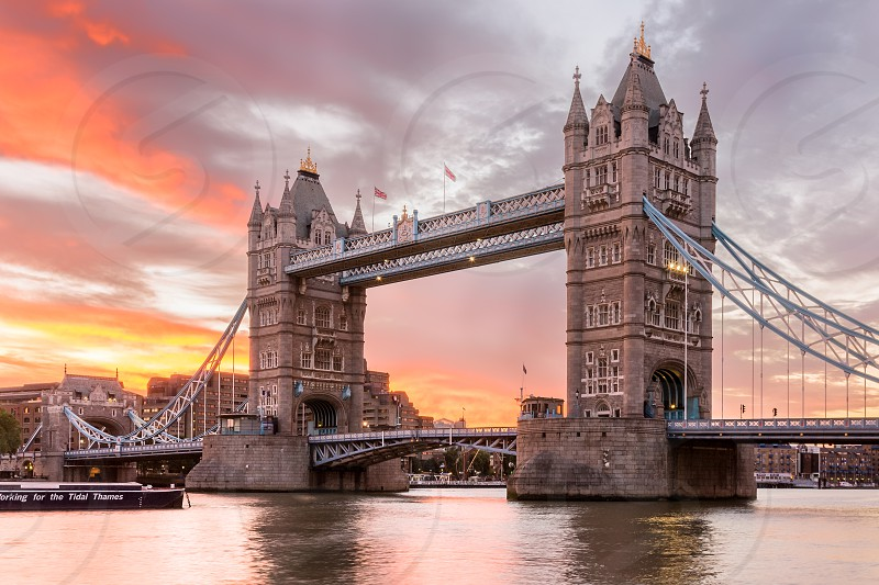 Europe - United Kingdom - England - London a view of Tower Bridge at sunrise. photo