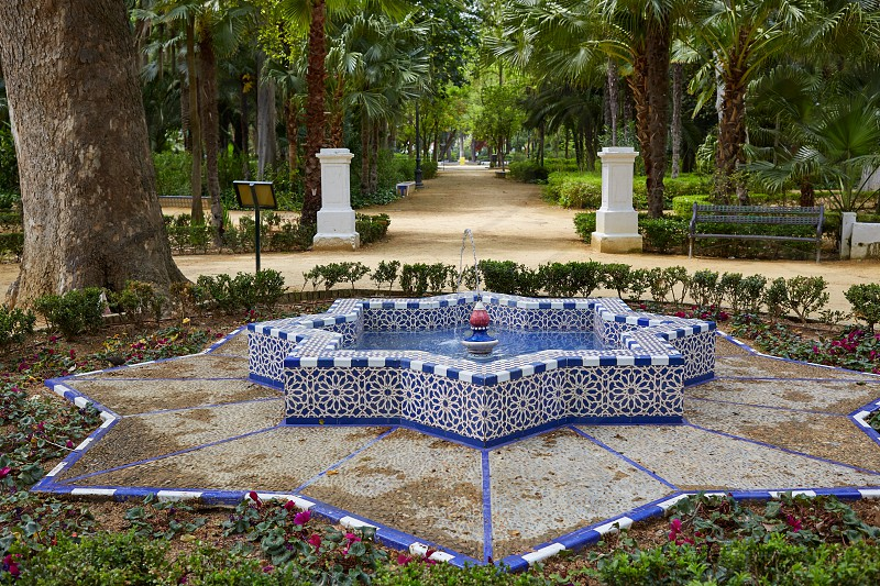 seville maria luisa park gardens in andalucia spain photo