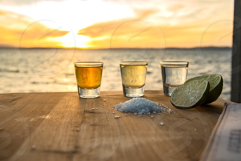 Triple shots of tequila by the sea photo