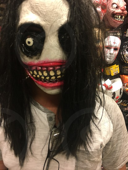 Halloween costume creepy sinister ghoulish  mask cool photo