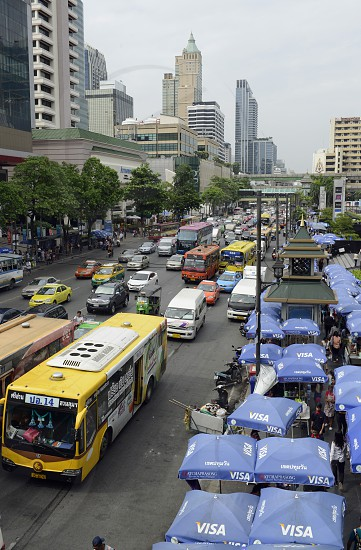the city centre at the pratunam aerea in the city of Bangkok in Thailand in Suedostasien. photo