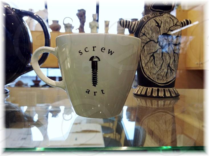 """Screw art"" cup photo"