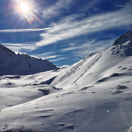 mountain covered in snow photo