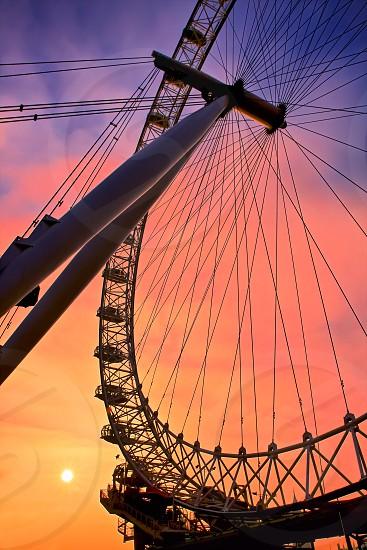London Eye silhouette photo