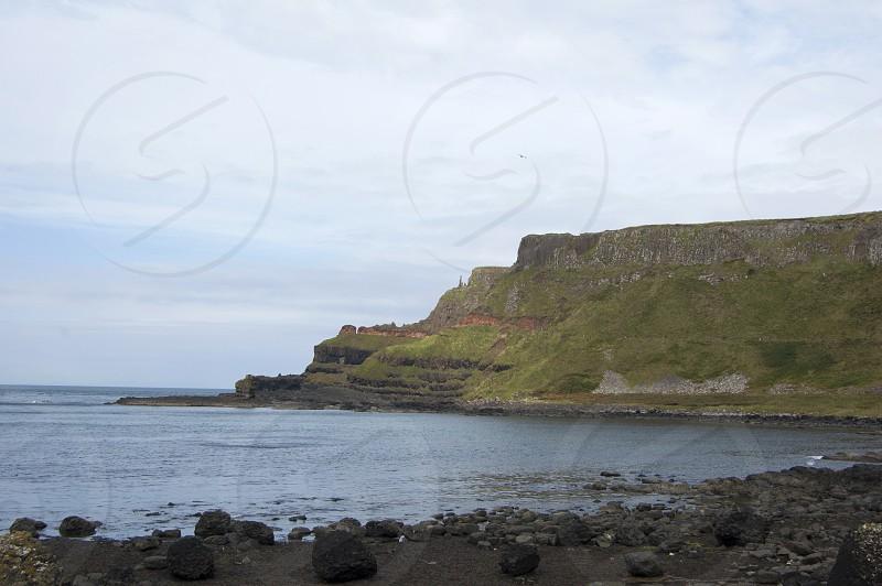 Antrim Coast Road Northern Ireland Irish Sea Autumn Giant's Causeway Rocks Volcanic Cliffs photo