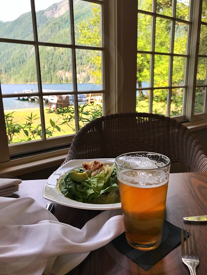 A Perfect lunch in a peaceful place. photo