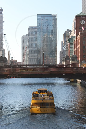 Travel Chicago water taxi river photo
