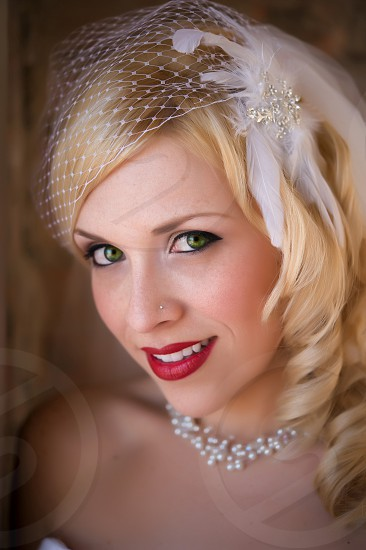 Close-up of bride photo