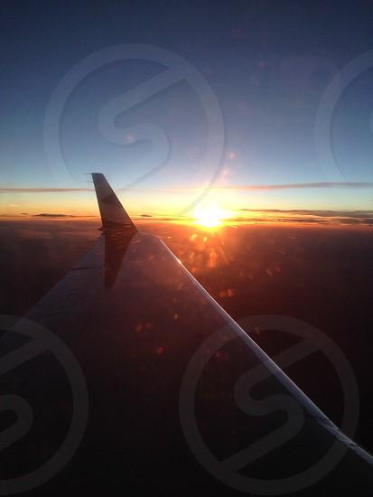 Sunset cruise at 30000 feet photo
