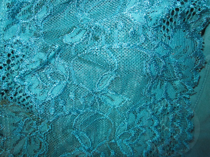 Teal camisole lace texture photo