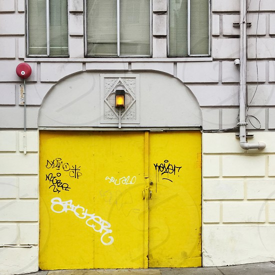 Yellow door photo