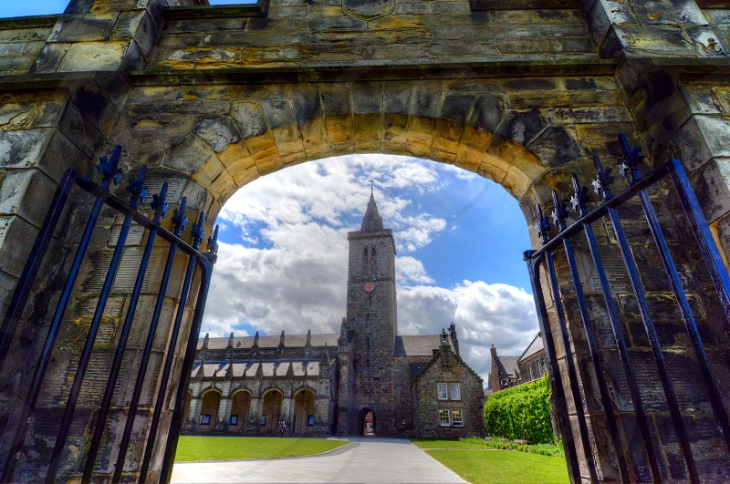 University of St. Andrews in St. Andrews Scotland. photo