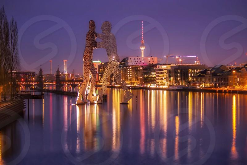 Molecule men Spree River Berlin Germany photo