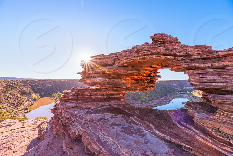 Nature's Window in Kalbarri National Park early in the morning photo