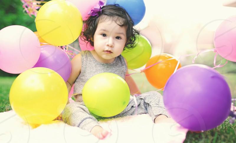 Niece portrait cute beautiful Sky colors photo