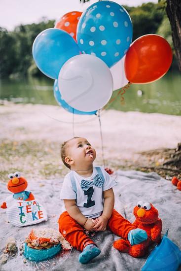Birthday baby balloons  photo