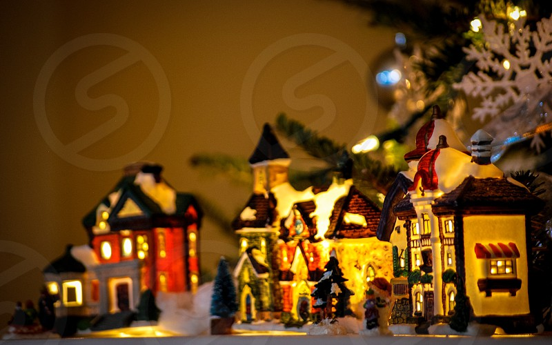 Christmas lights and decorations  photo