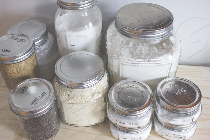 Dry ingredients are half of the baking process.  photo