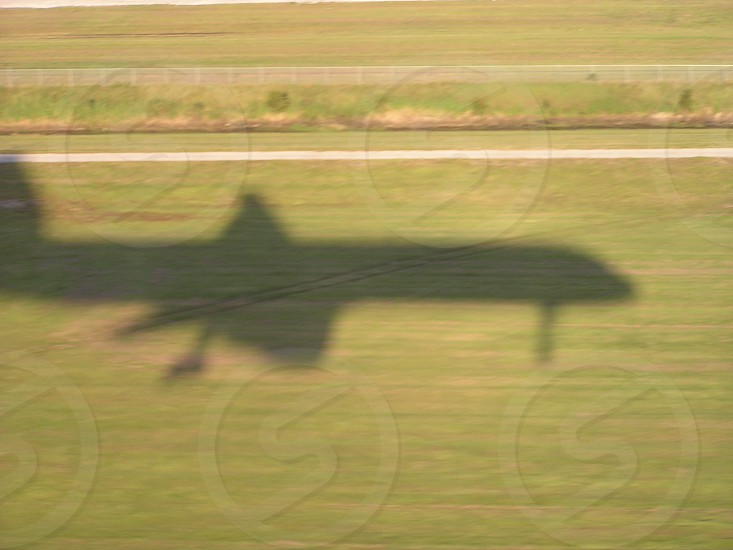 Shadow of our Airplane on January 13th landing at LaGuardia in Boston. photo