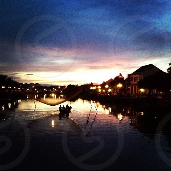 Sunset in Hoi An oldtownVietnam photo