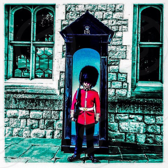 Queens Guard at the Tower of London photo