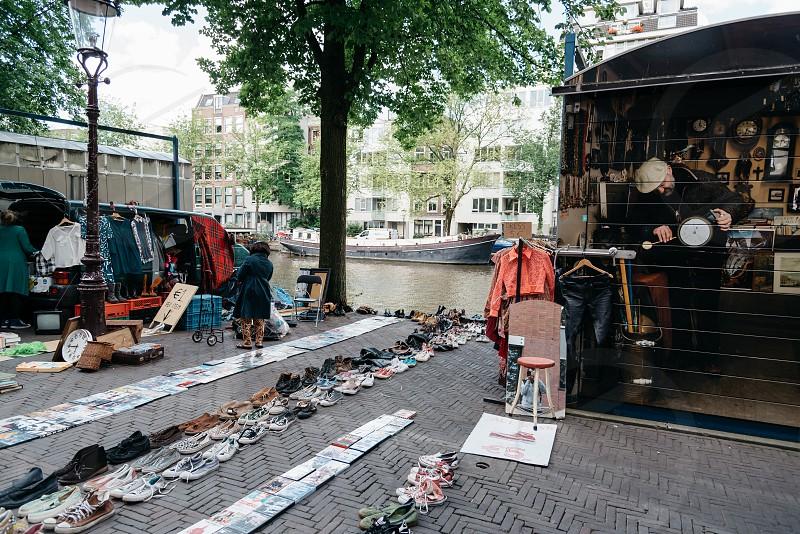Waterlooplein Market in Amsterdam. Flea market photo