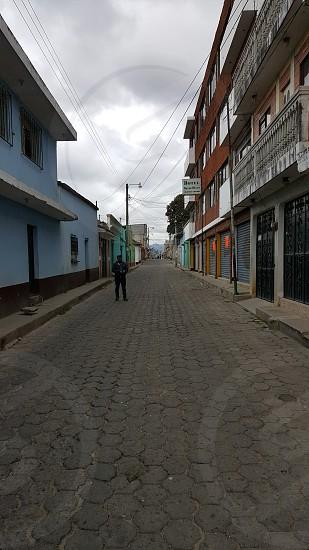 Guatemala City Street Cobblestone Historic photo