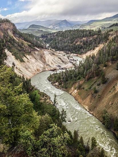Yellowstone River Yellowstone National Park. photo