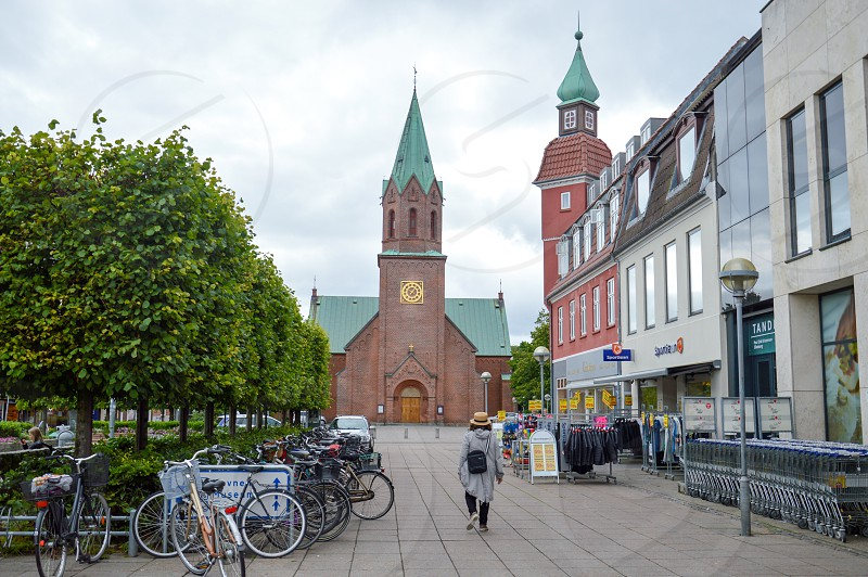 Silkeborg Church located at the town centre of Silkeborg a municipality in East Jutland metropolitan area in Denmark photo