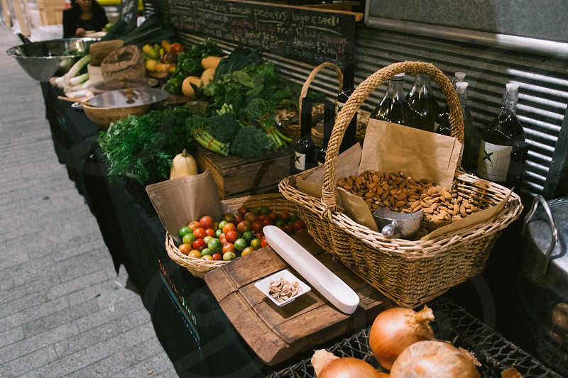 Fresh food market photo