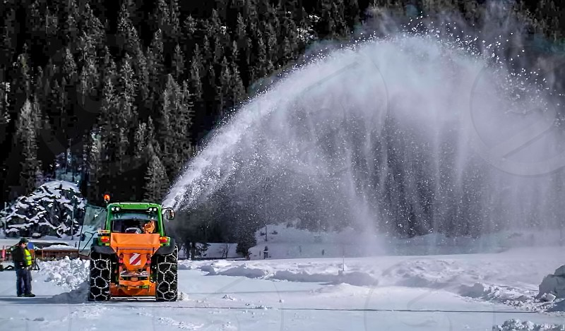Snow ploughing photo