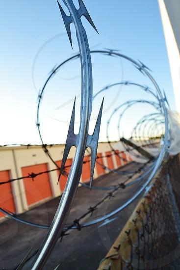 barb wire barbwire Houston Texas storage fence photo