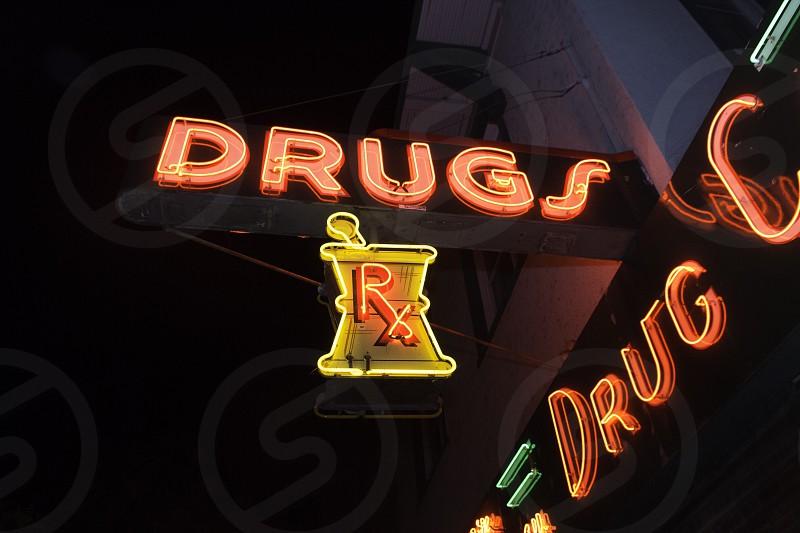 Drugs RX signage photo