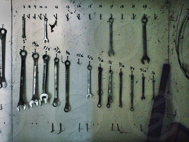 Tool board spanners  photo