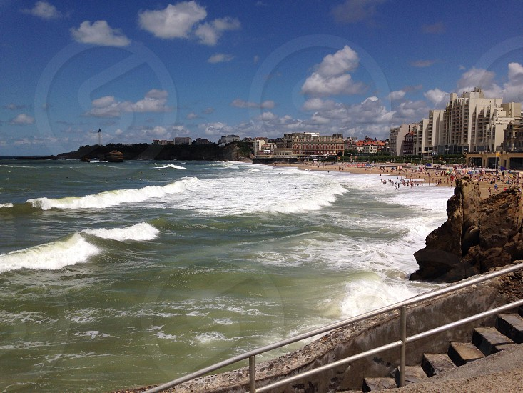 Biarritz Bay of Biscay.  photo