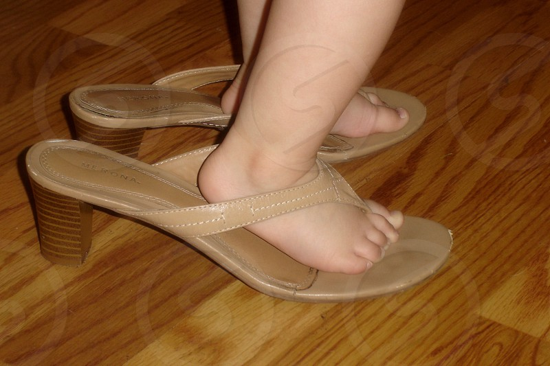 Mommy's shoes photo